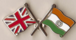 Great Britain and India Friendship Flag Pin Badge